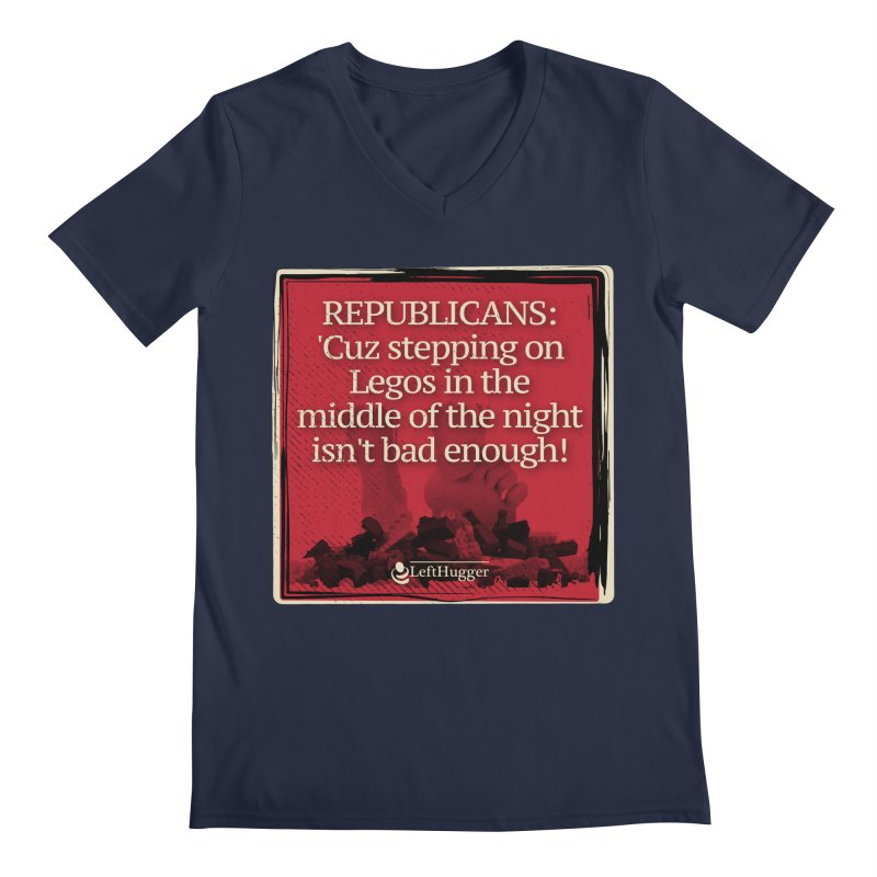Republican legos Men's Regular V-Neck by Lefthugger