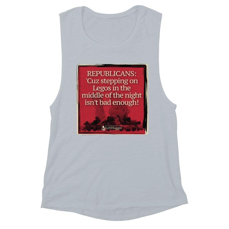 Republican legos Women's Muscle Tank by Lefthugger