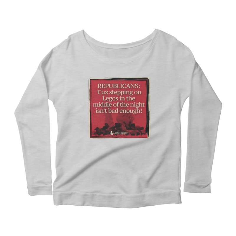 Republican legos Women's Scoop Neck Longsleeve T-Shirt by Lefthugger