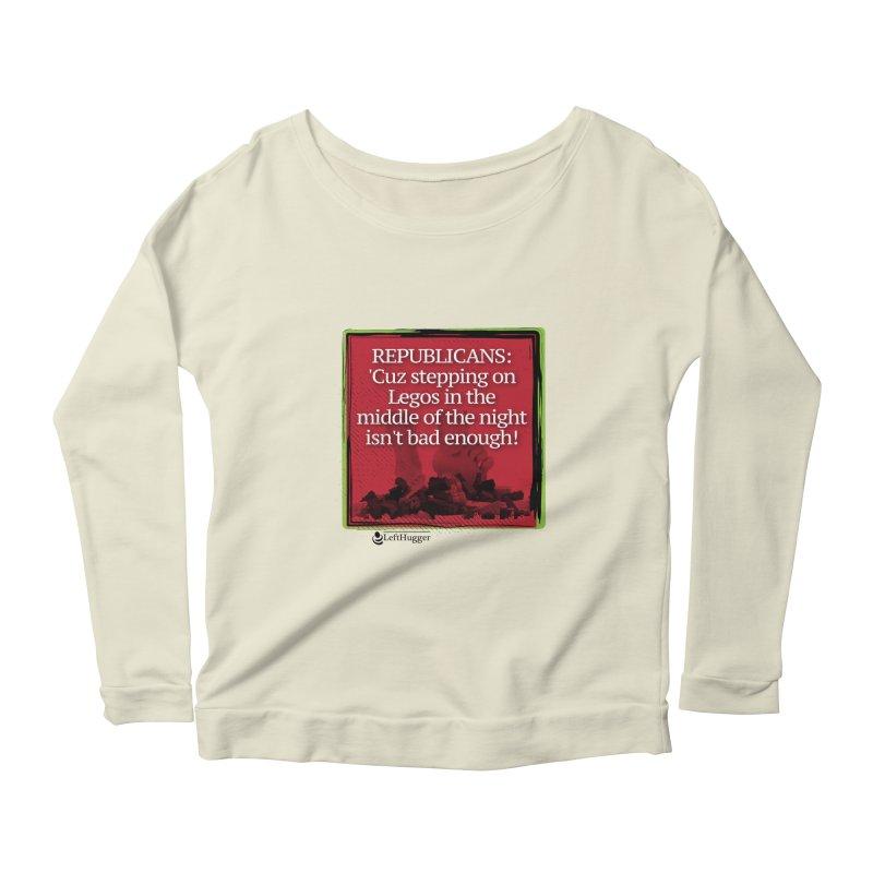 Republicans: Women's Scoop Neck Longsleeve T-Shirt by Lefthugger
