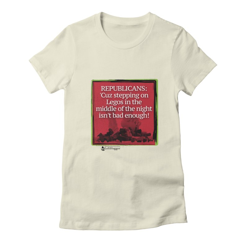 Republicans: Women's Fitted T-Shirt by Lefthugger