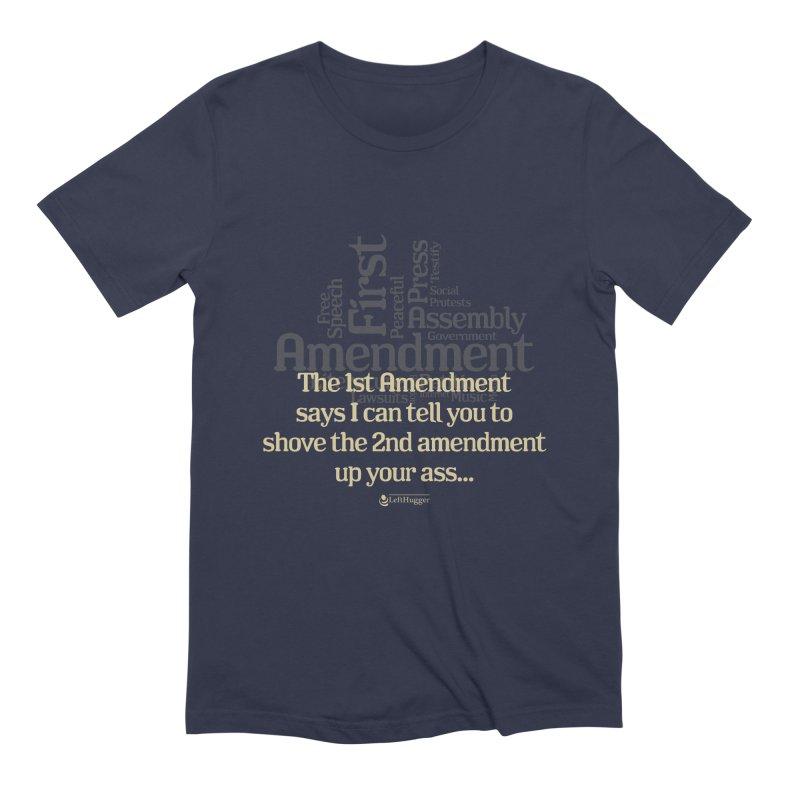 The 1st Amendment Men's Extra Soft T-Shirt by Lefthugger
