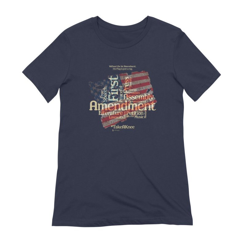 The Flag is just a rag... Women's T-Shirt by Lefthugger