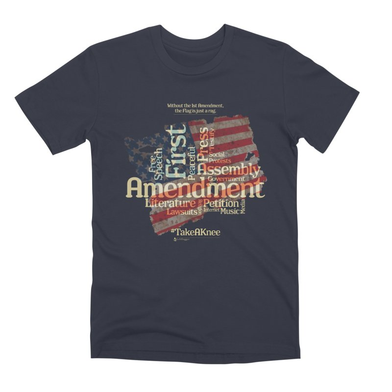 The Flag is just a rag... Men's Premium T-Shirt by Lefthugger