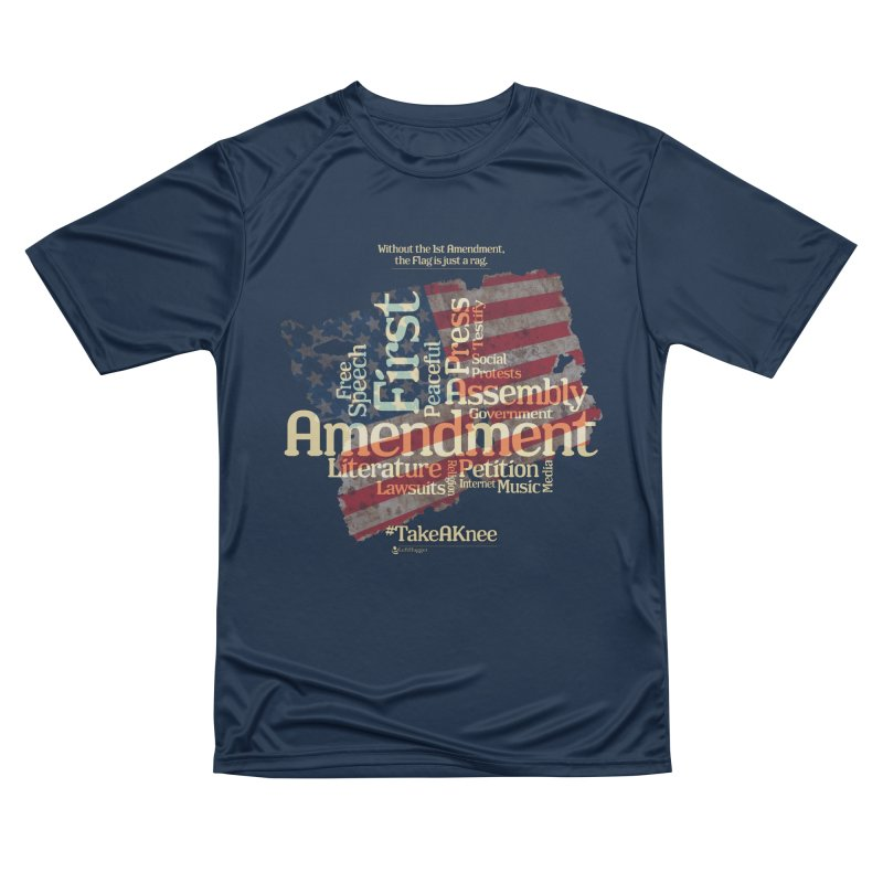 The Flag is just a rag... Men's Performance T-Shirt by Lefthugger