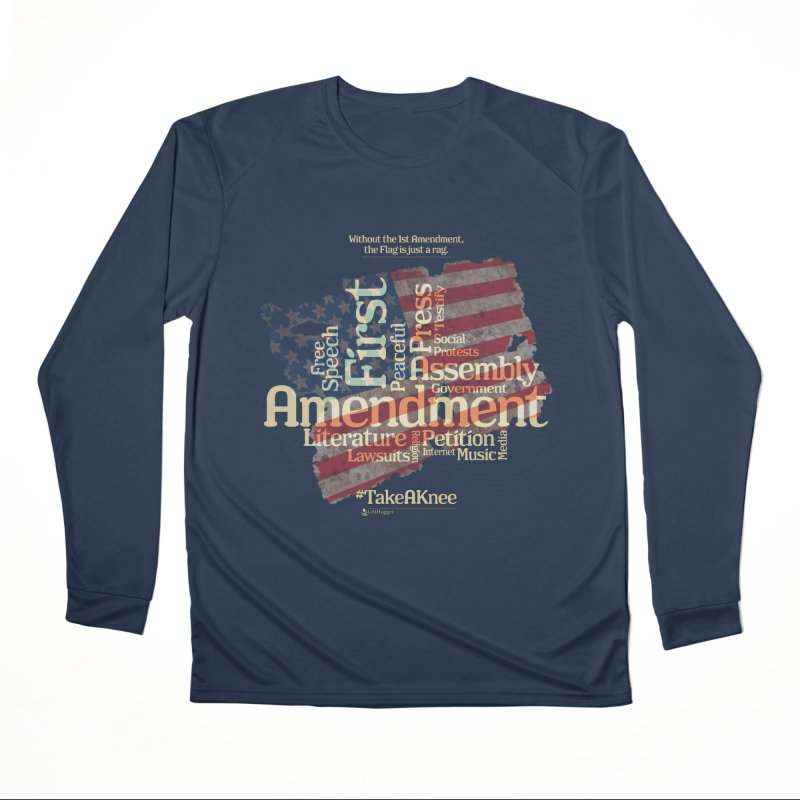 The Flag is just a rag... Women's Performance Unisex Longsleeve T-Shirt by Lefthugger