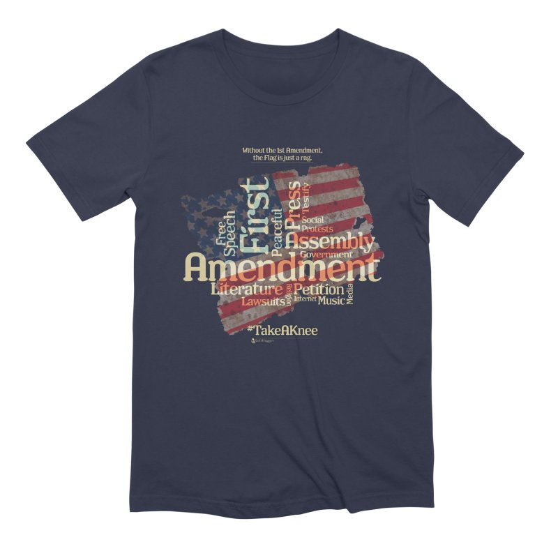 The Flag is just a rag... Men's Extra Soft T-Shirt by Lefthugger