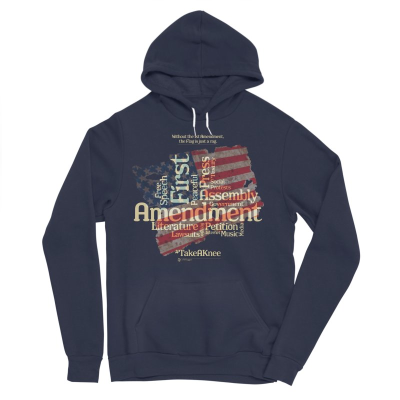 The Flag is just a rag... Men's Pullover Hoody by Lefthugger