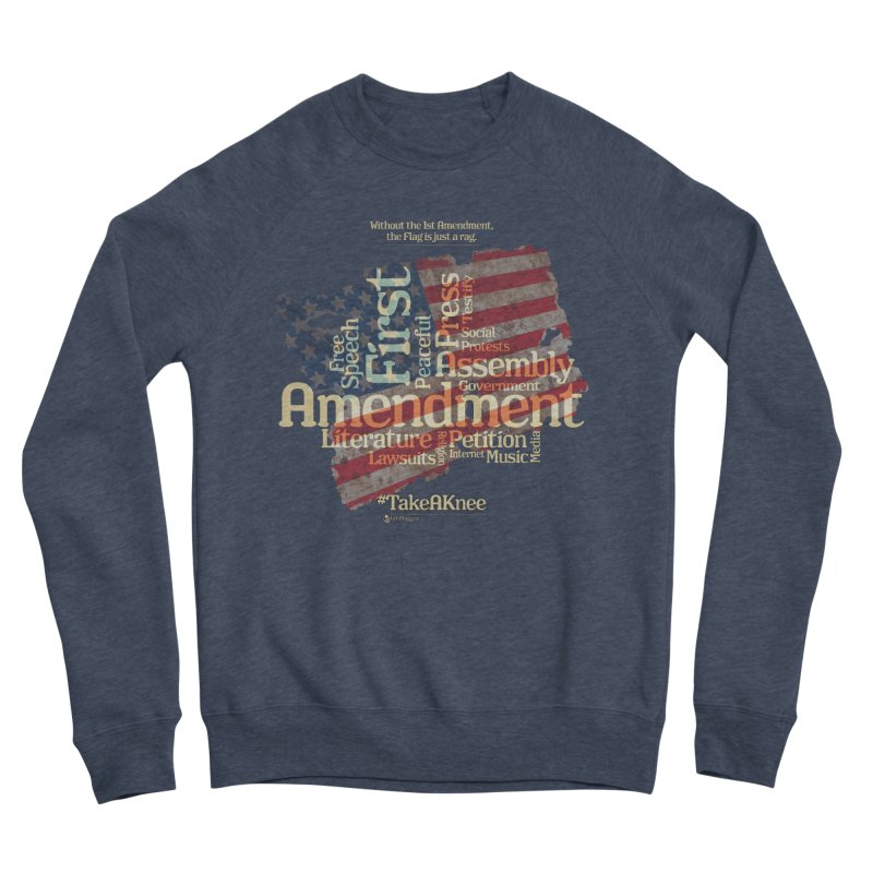 The Flag is just a rag... Men's Sponge Fleece Sweatshirt by Lefthugger