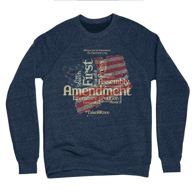 The Flag is just a rag... Women's Sponge Fleece Sweatshirt by Lefthugger