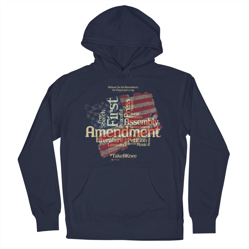 The Flag is just a rag... Men's French Terry Pullover Hoody by Lefthugger