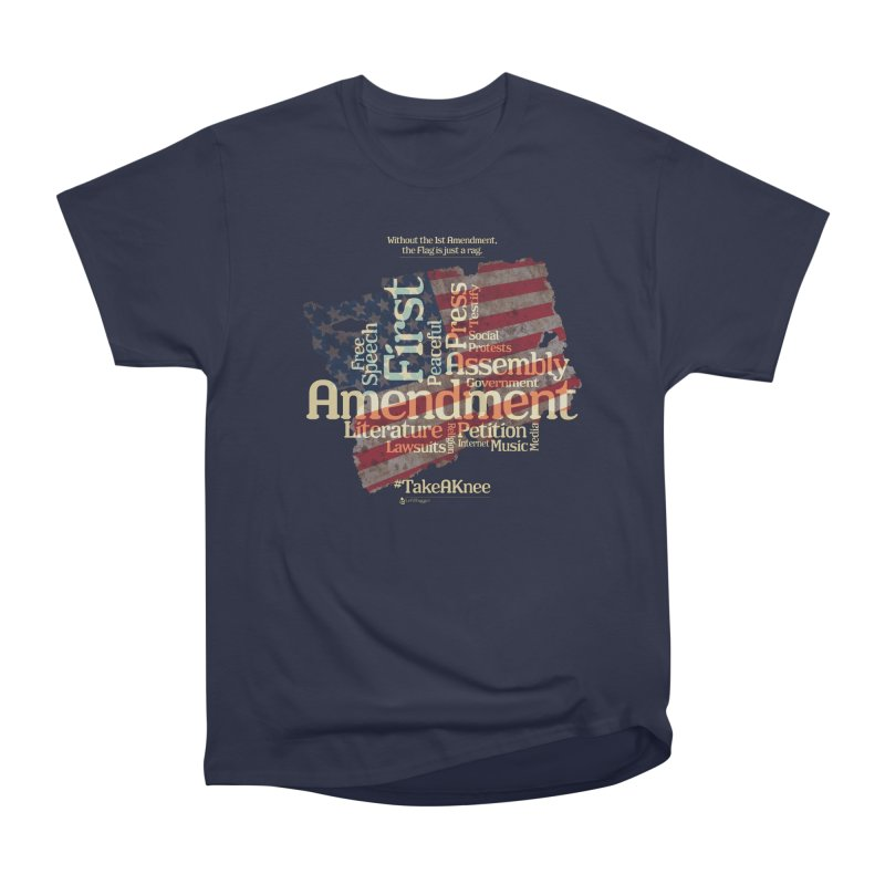 The Flag is just a rag... Men's Heavyweight T-Shirt by Lefthugger