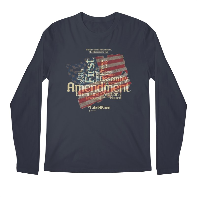 The Flag is just a rag... Men's Regular Longsleeve T-Shirt by Lefthugger