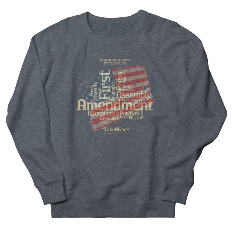The Flag is just a rag... Men's French Terry Sweatshirt by Lefthugger
