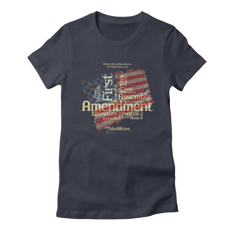 The Flag is just a rag... Women's Fitted T-Shirt by Lefthugger