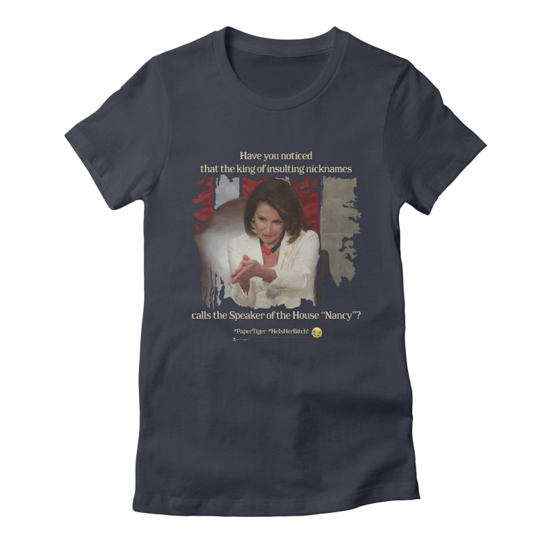 Nancy Women's Fitted T-Shirt by Lefthugger