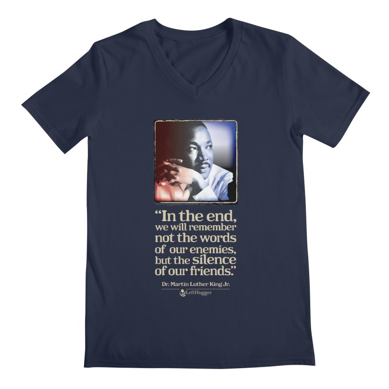 ...the silence of our friends Men's Regular V-Neck by Lefthugger