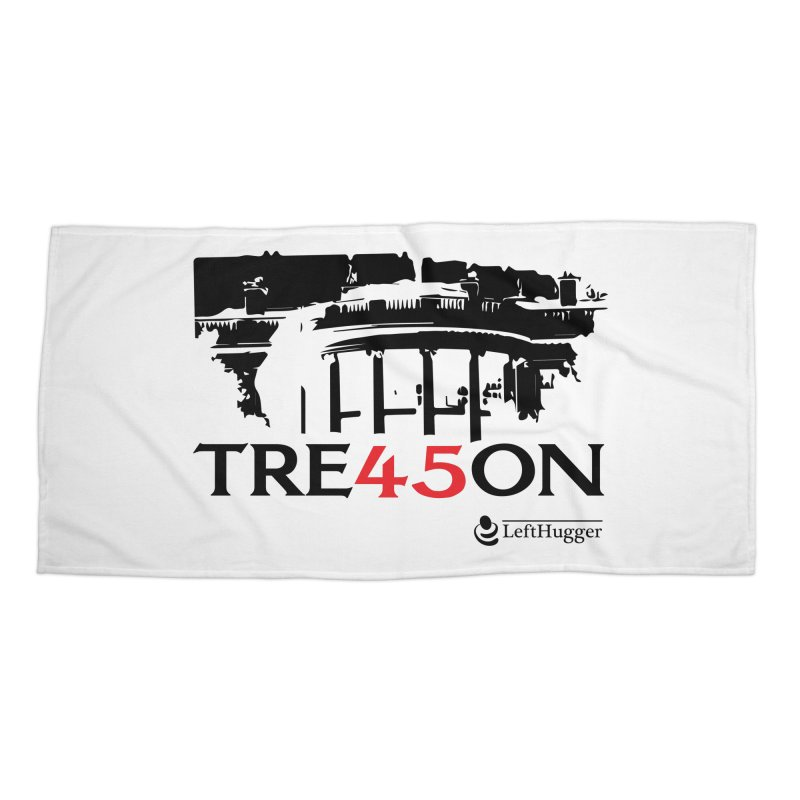 TRE45SON 2018 - Black Accessories Beach Towel by Lefthugger