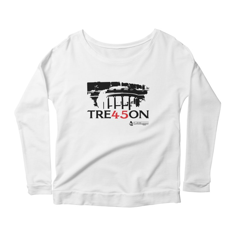 TRE45SON 2018 - Black Women's Scoop Neck Longsleeve T-Shirt by Lefthugger