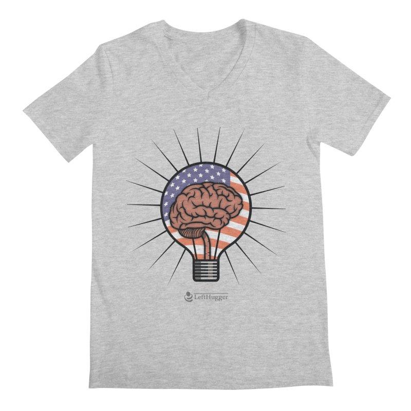 BrainBulb Men's Regular V-Neck by Lefthugger