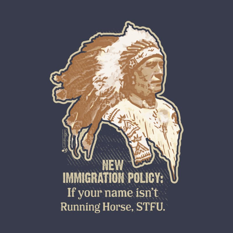 New Immigration Policy Women's Longsleeve T-Shirt by Lefthugger