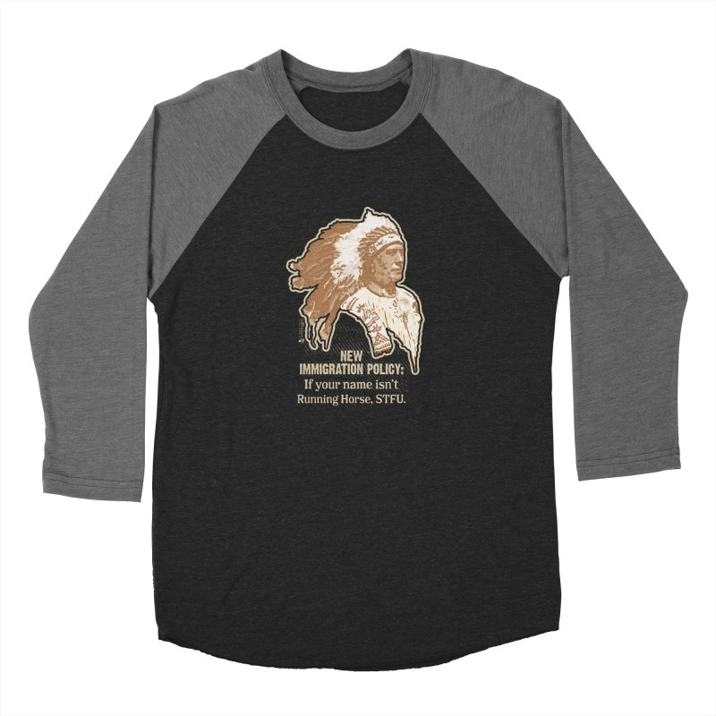 New Immigration Policy Women's Baseball Triblend Longsleeve T-Shirt by Lefthugger