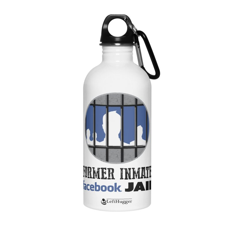 Former Inmate Facebook Jail Accessories Water Bottle by Lefthugger