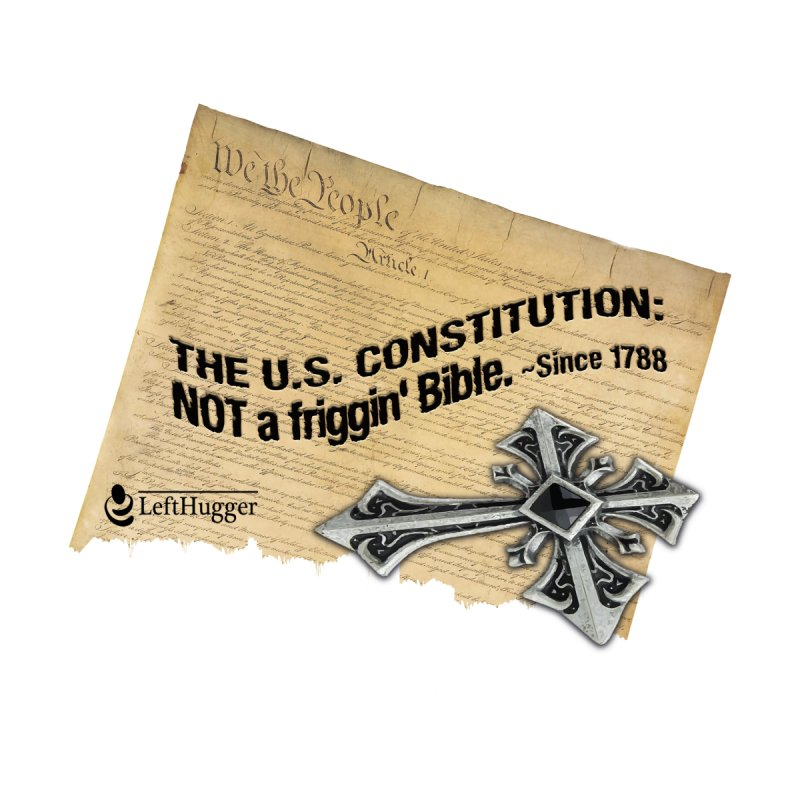 The U.S. Constitution: NOT a friggin' bible. Accessories Water Bottle by Lefthugger