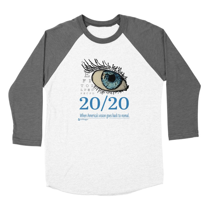 20/20 Men's Baseball Triblend Longsleeve T-Shirt by Lefthugger