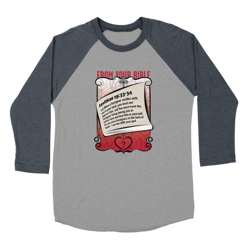 Leviticus 19:33-34 Women's Baseball Triblend Longsleeve T-Shirt by Lefthugger