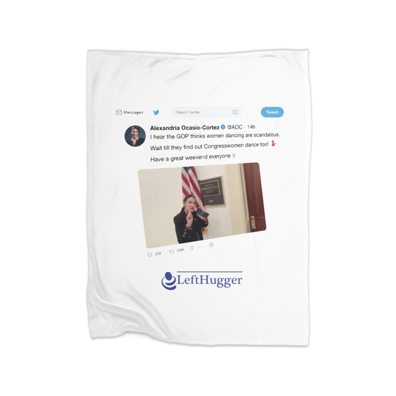 Dancer | Alexandria Ocasio-Cortez Home Fleece Blanket Blanket by Lefthugger
