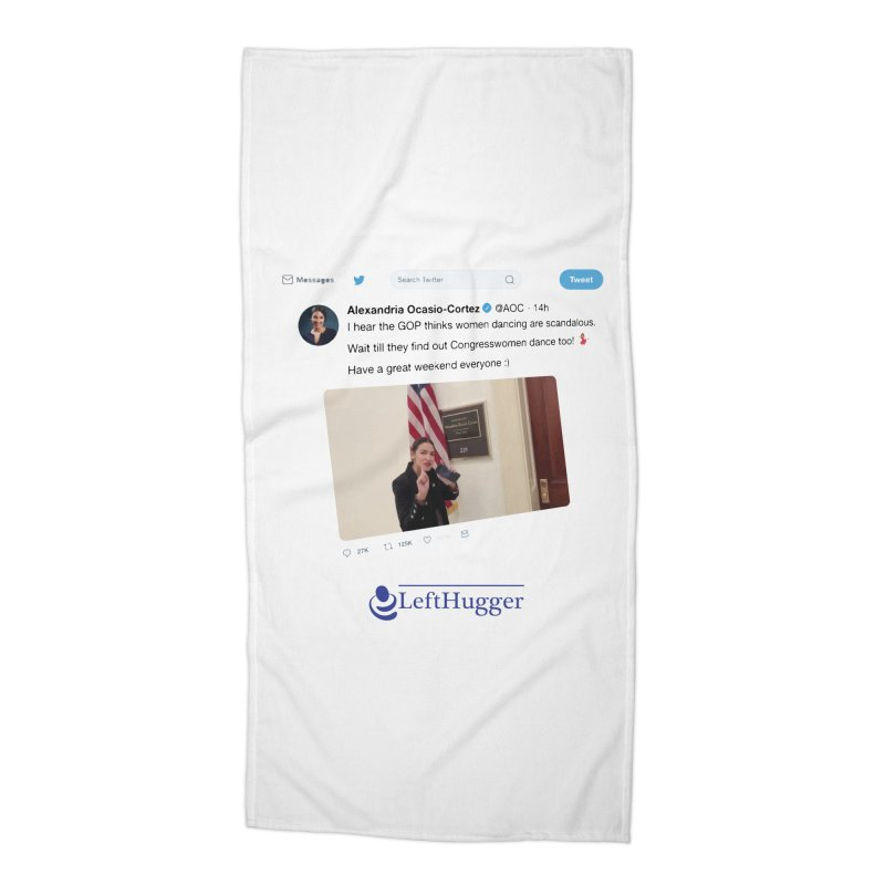 Dancer | Alexandria Ocasio-Cortez Accessories Beach Towel by Lefthugger