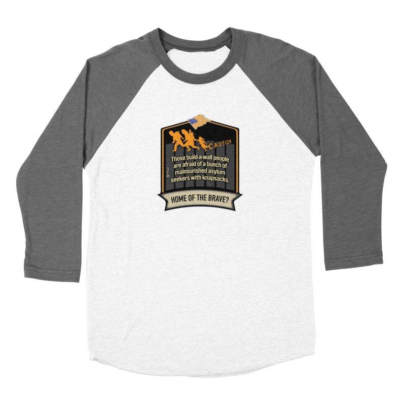 Home of the Brave? Women's Baseball Triblend Longsleeve T-Shirt by Lefthugger