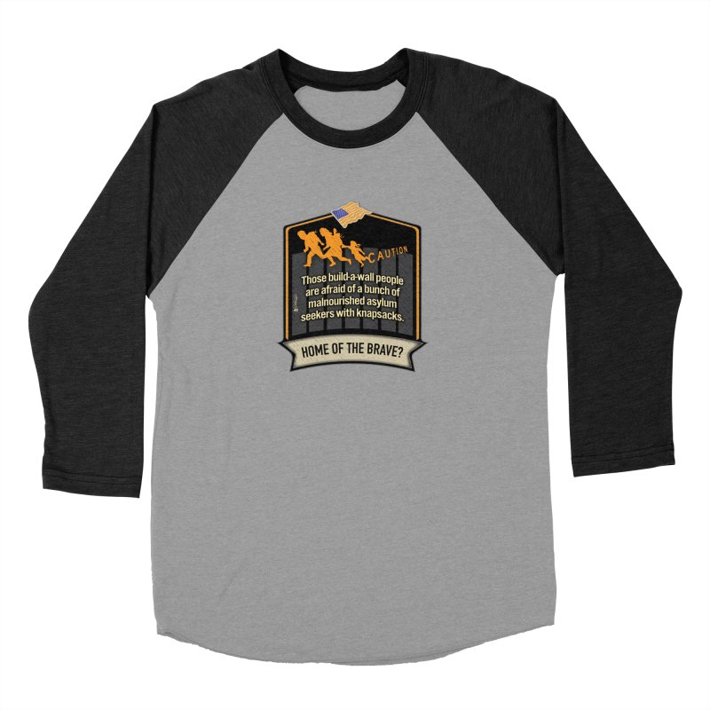 Home of the Brave? Men's Baseball Triblend Longsleeve T-Shirt by Lefthugger