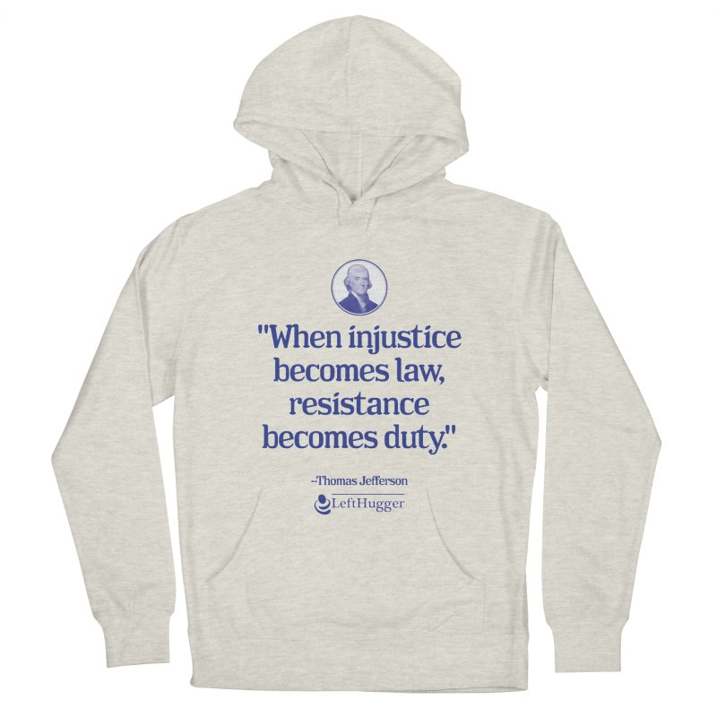 Resistance is Duty Men's French Terry Pullover Hoody by Lefthugger