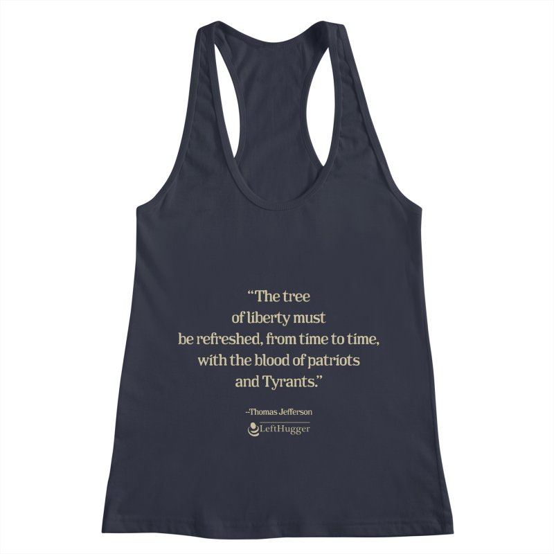 """""""Patriots and Tyrants"""" Women's Racerback Tank by Lefthugger"""