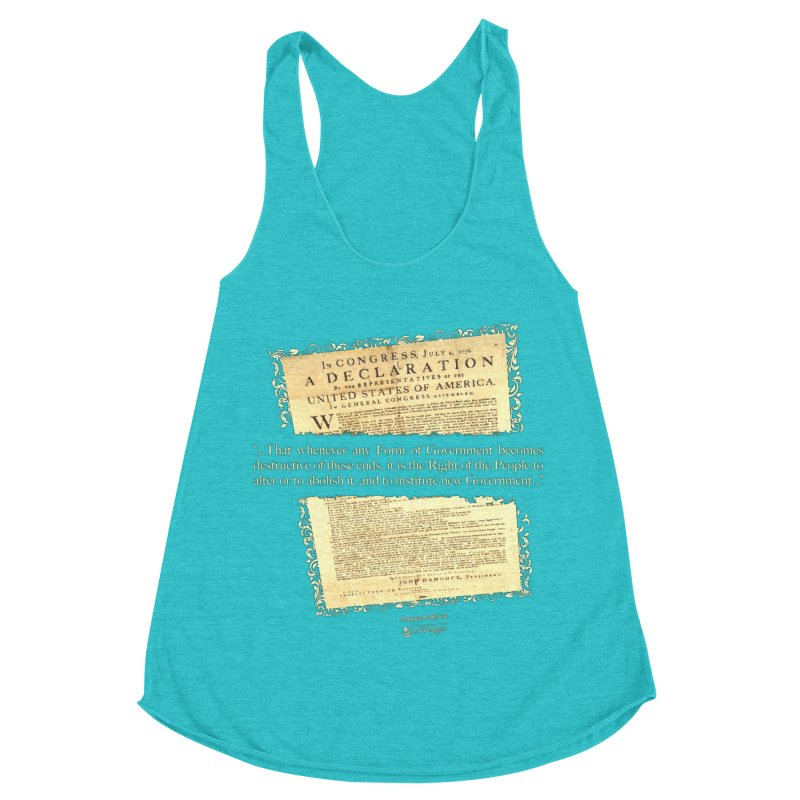 When Government becomes destructive Women's Racerback Triblend Tank by Lefthugger