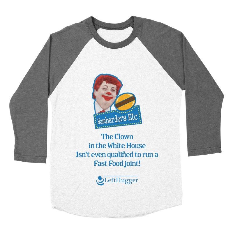Hamberders Etc Men's Baseball Triblend Longsleeve T-Shirt by Lefthugger