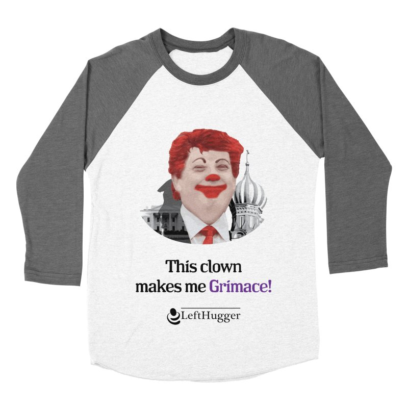 This clown makes me grimace. Men's Baseball Triblend Longsleeve T-Shirt by Lefthugger