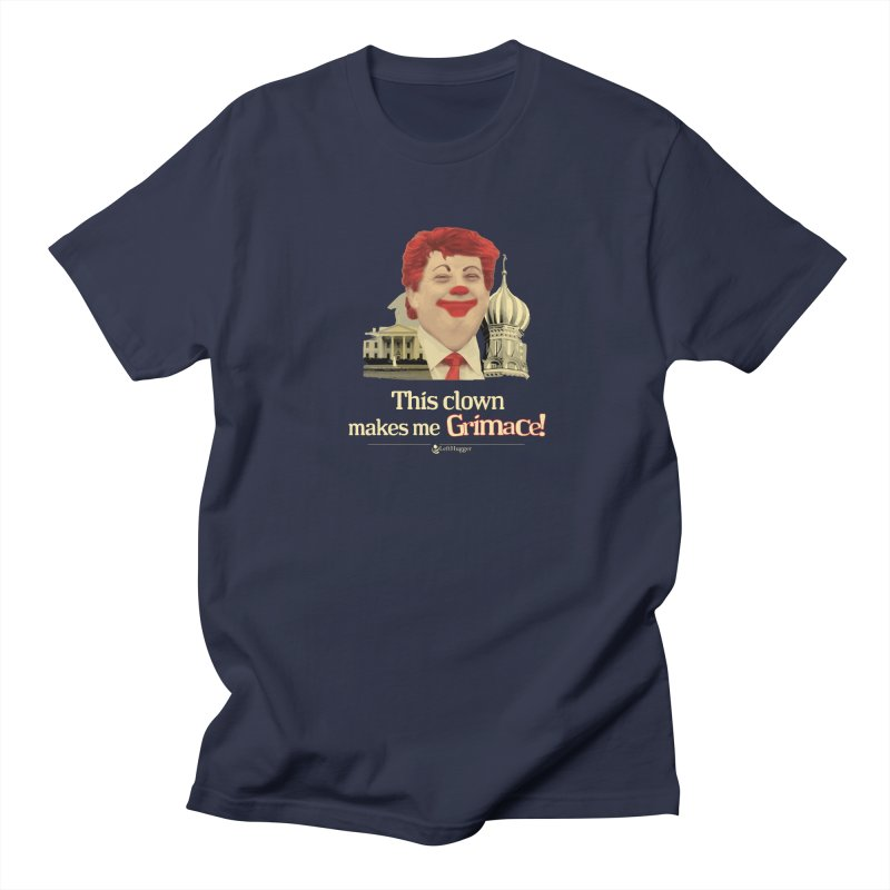 This clown makes me grimace. Men's T-Shirt by Lefthugger