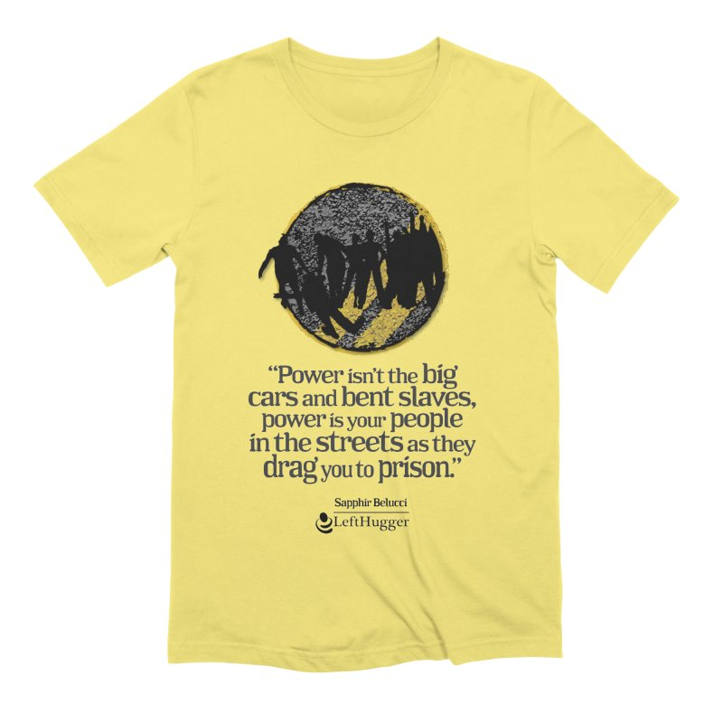 People in the Streets Men's Extra Soft T-Shirt by Lefthugger