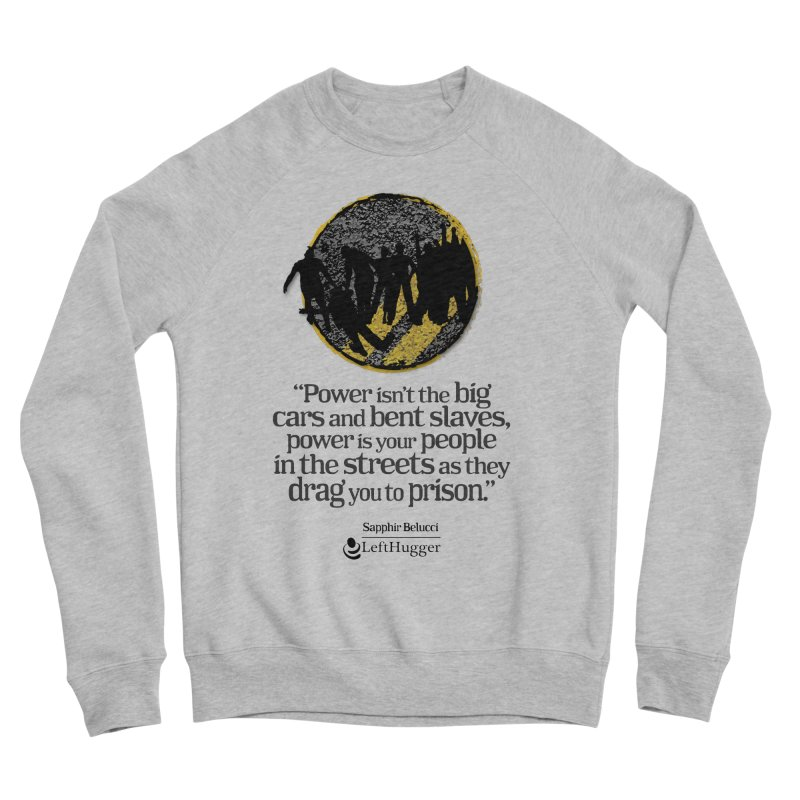 People in the Streets Women's Sponge Fleece Sweatshirt by Lefthugger