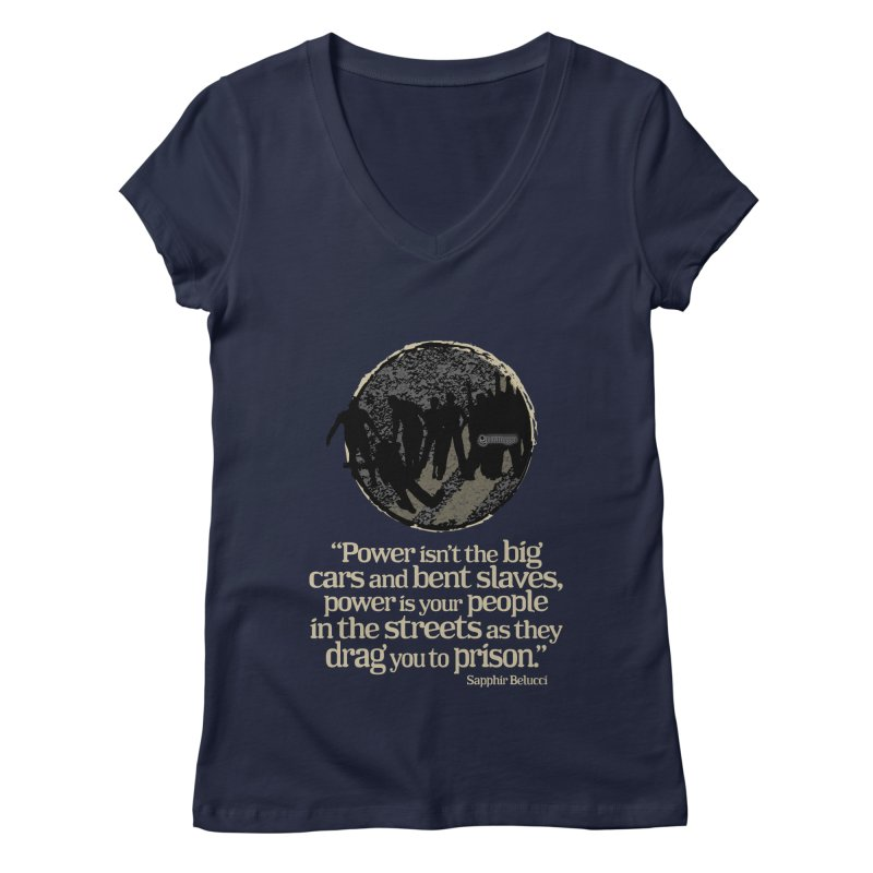 People in the Streets Women's Regular V-Neck by Lefthugger
