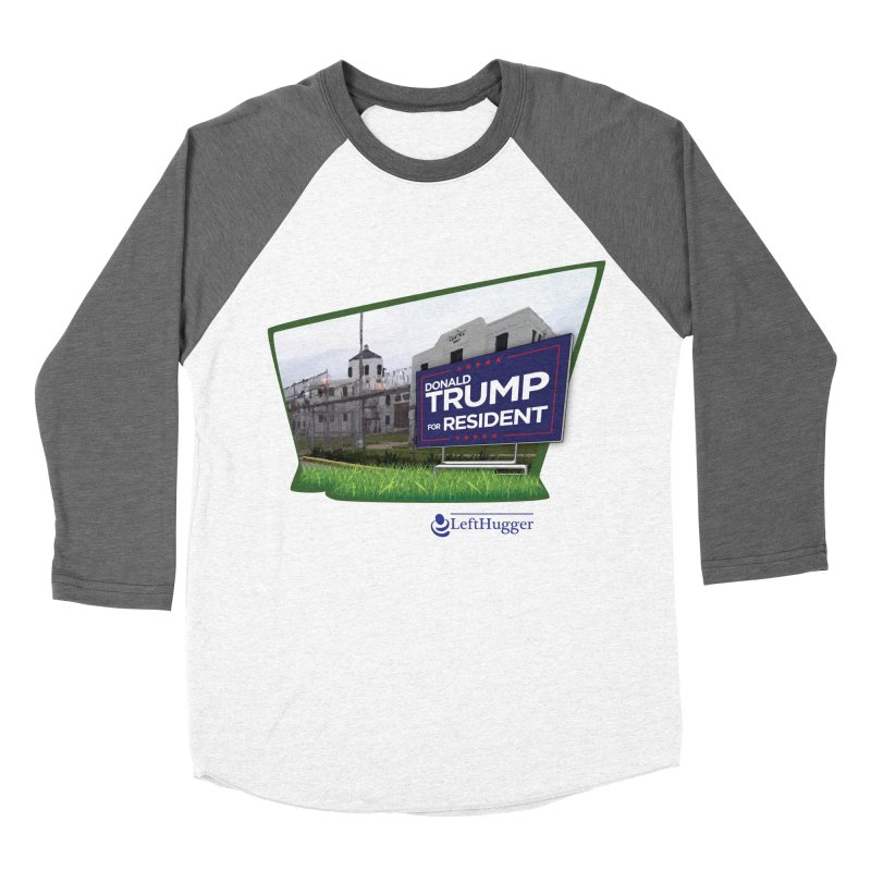 Donald Trump for Resident Men's Baseball Triblend Longsleeve T-Shirt by Lefthugger