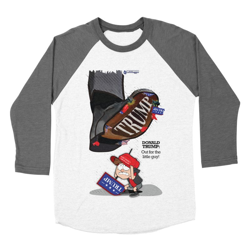 Out for the Little Guy Men's Baseball Triblend Longsleeve T-Shirt by Lefthugger