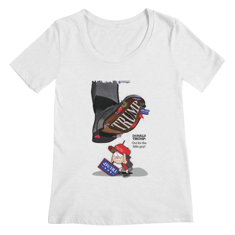 Out for the Little Guy Women's Regular Scoop Neck by Lefthugger