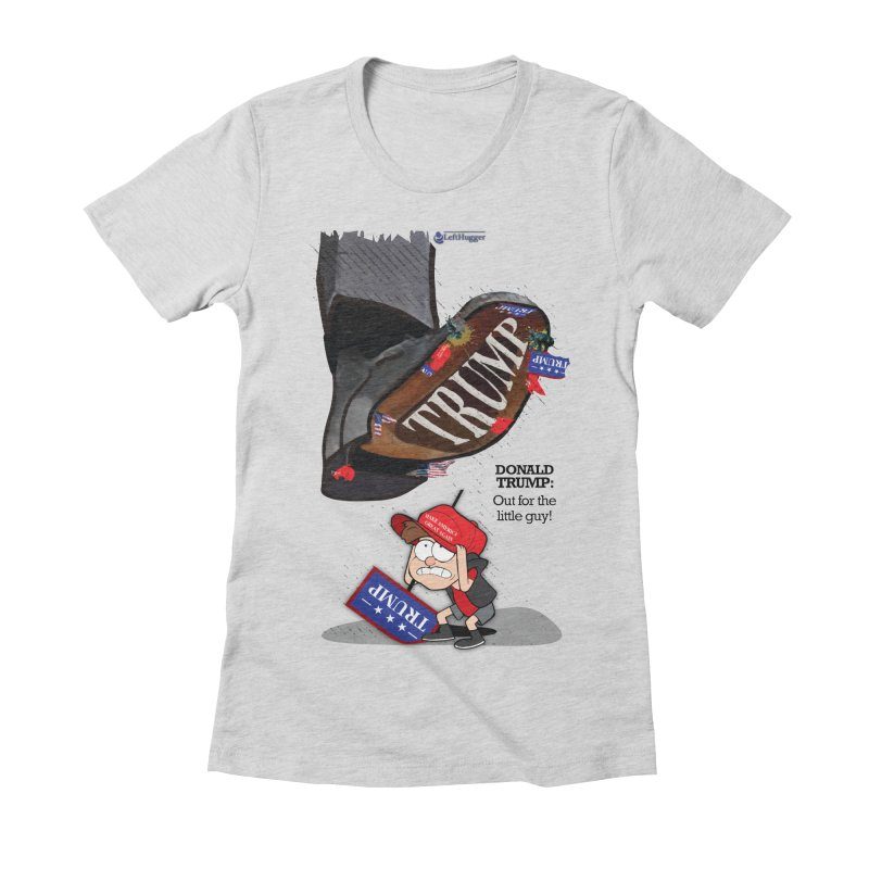 Out for the Little Guy Women's Fitted T-Shirt by Lefthugger