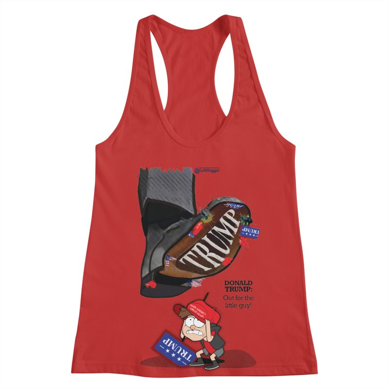 Out for the Little Guy Women's Racerback Tank by Lefthugger