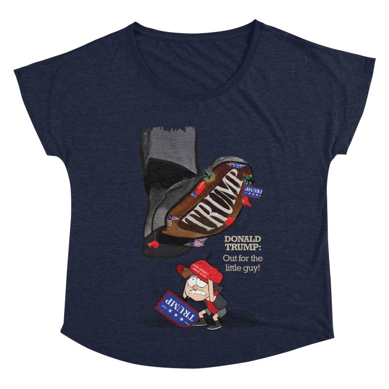 Out for the Little Guy Women's Dolman Scoop Neck by Lefthugger