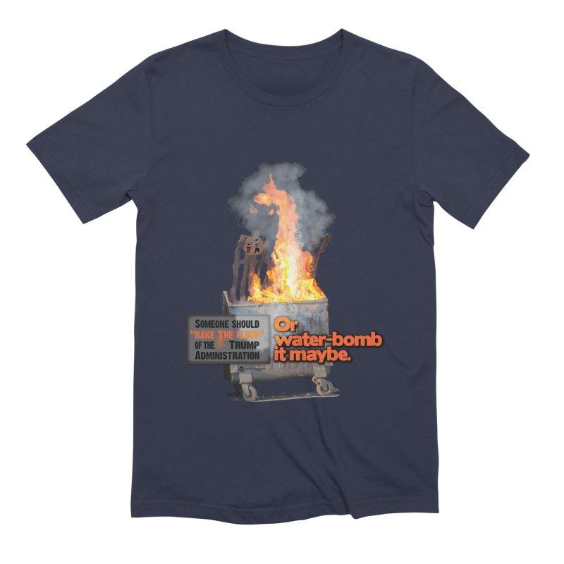 Dumpster Fire! Men's T-Shirt by Lefthugger